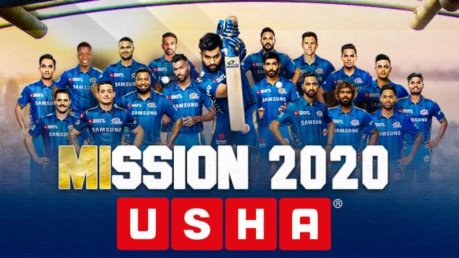 IPL 2020: Usha International to be an official partner of Mumbai Indians for the 7th consecutive year