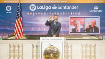 LaLiga Santander becomes the first European sports league to rings the NYSE opening bell