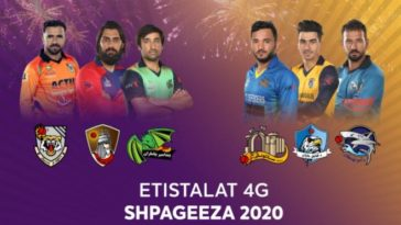 Shpageeza T20 League 2020 points table and standings
