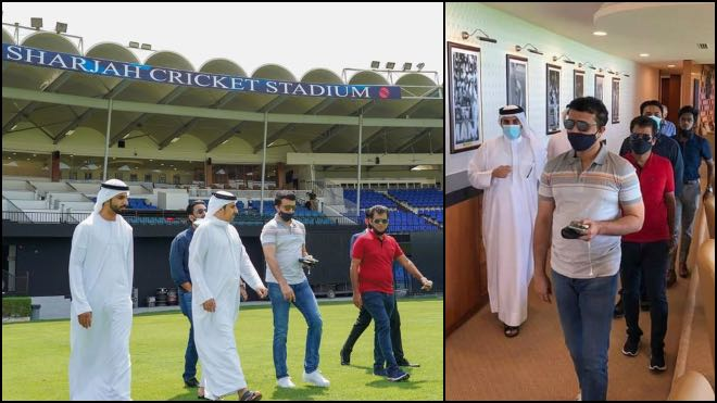 Sourav Ganguly inspects preparation for IPL 2020 at Sharjah Cricket Stadium