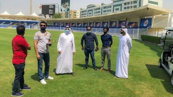 Sourav Ganguly was accompanied with IPL chairman Brijesh Patel and BCCI CEO Hemang Amin