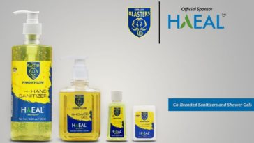 HAEAL and Kerala Blasters FC launched 3 co-branded personal hygiene products