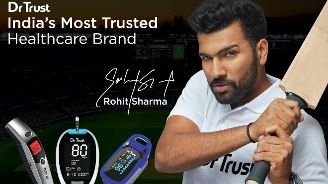 Healthcare brand Dr Trust sign Rohit Sharma as its new brand ambassador