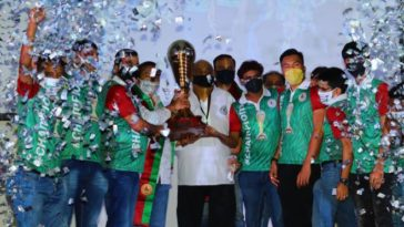 I-League 2019-20 champions trophy handed over to Mohun Bagan