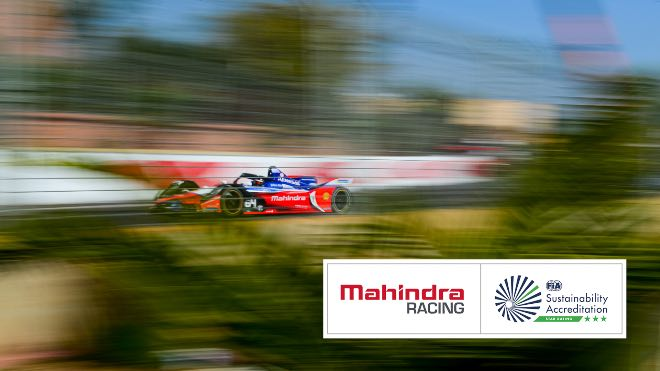 Mahindra Racing becomes the first Formula E team to receive Three Stars for sustainability by FIA