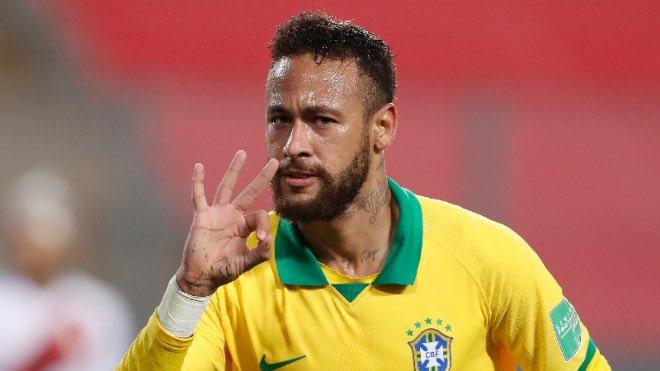 Neymar's hat-trick helps Brazil get pass Peru in World Cup Qualifier