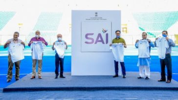 Sports Minister Kiren Rijiju unveils new logo of SAI
