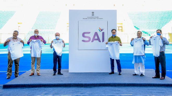 Sports Minister Kiren Rijiju unveils new logo of SAI