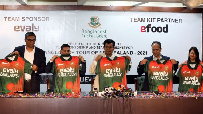 BCB sign Evaly as sponsor of Bangladesh Cricket Team for New Zealand Tour 2021