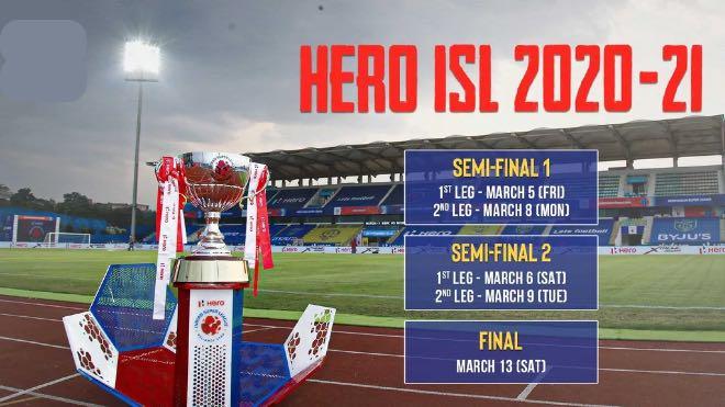 ISL 2020-21 Playoffs schedule announced; Fatorda to host final on March 13