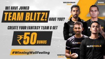 Blitzpools partners with Indian cricketers Ishan Kishan, Rahul Chahar, Shreyas Gopal and Wriddhiman Saha