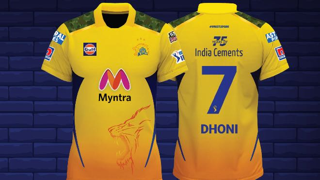 Chennai Super Kings (CSK) IPL 2021 Jersey