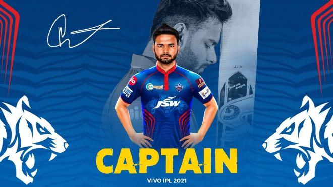 Delhi Capitals appoints Rishabh Pant as captain for IPL 2021