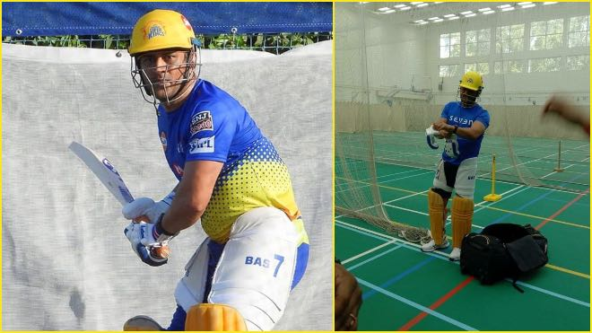 IPL 2021: Chennai Super Kings starts training, MS Dhoni hits nets
