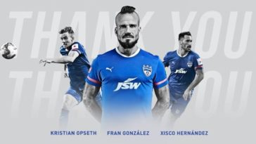 ISL 2020-21: Kristian Opseth, Fran González and Xisco Hernandez leave Bengaluru FC