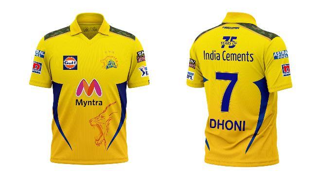 Chennai Super Kings Sponsors and Kit for IPL 2021