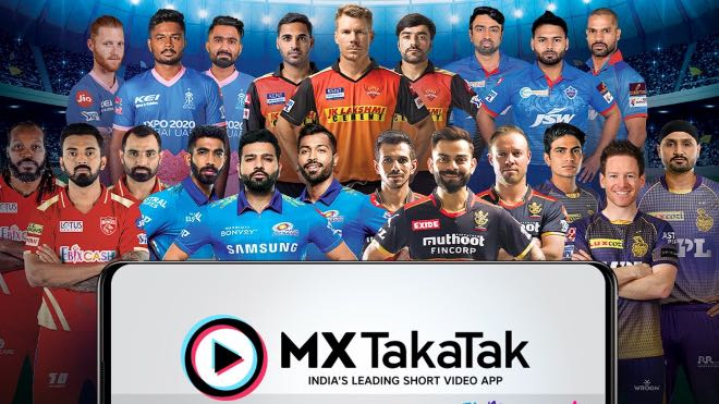 IPL 2021: MX TakaTak becomes the Official Short Video Partner of seven IPL teams