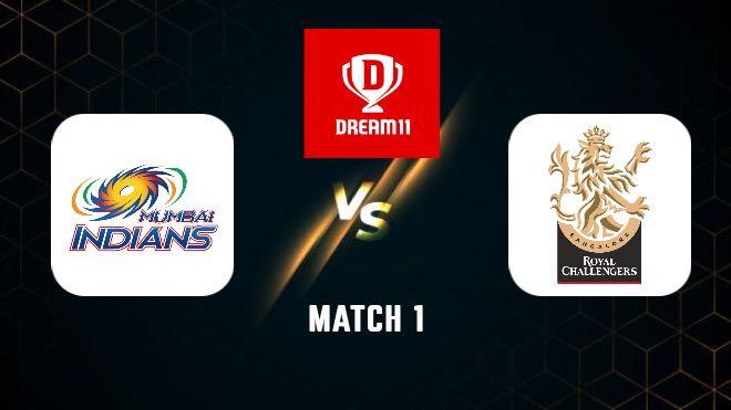 IPL 2021 Match 1 MI vs RCB Dream11 Team Prediction, Playing XI, Top Picks, Captain and Vice-captain