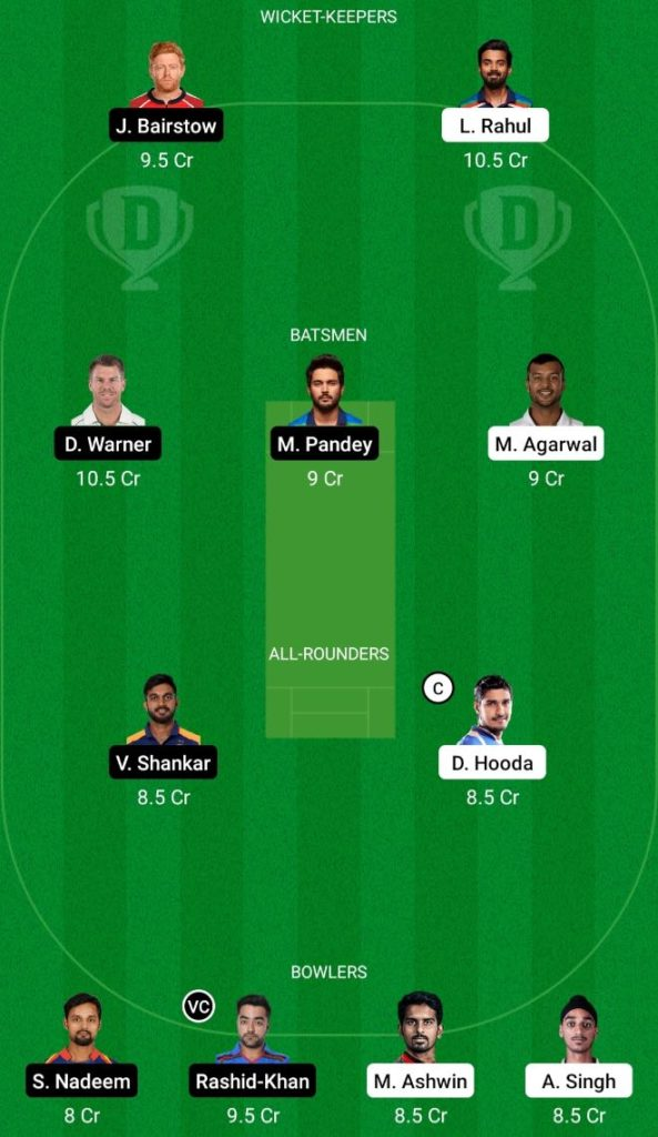 IPL 2021 Match 14 PBKS vs SRH Dream11 Team Prediction, Playing XI, Top Picks, Captain and Vice-captain