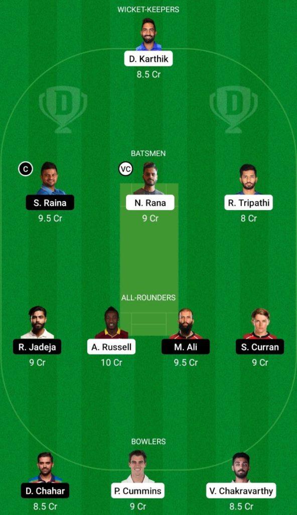 IPL 2021 Match 15 KKR vs CSK Dream11 Team Prediction, Playing XI, Top Picks, Captain and Vice-captain