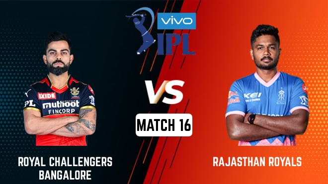 IPL 2021 Match 16 RCB vs RR Match Preview, Head to Head and Playing XI