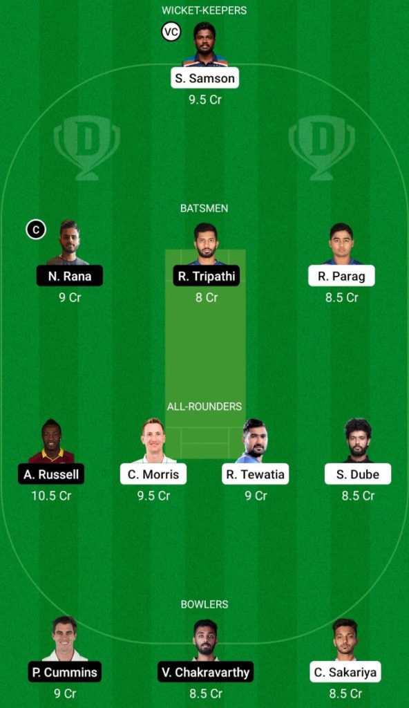 IPL 2021 Match 18 RR vs KKR Dream11 Team prediction, play XI, top picks, captain and vice-captain