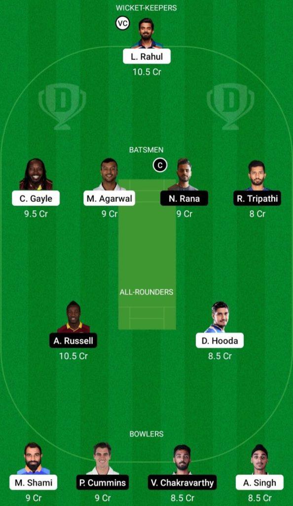IPL 2021 Match 21 PBKS vs KKR Dream11 Team Prediction, Playing XI, Top Picks, Captain and Vice-captain