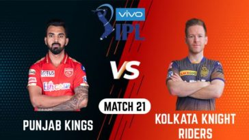 IPL 2021 Match 21 PBKS vs KKR Match Preview, Head to Head and Playing XI