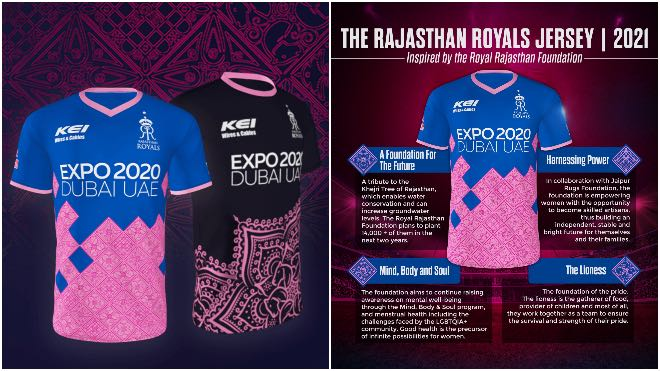 Rajasthan Royals unveils jersey for IPL 2021