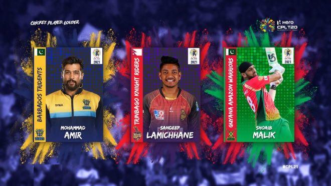 CPL 2021: Barbados sign Mohammad Amir, Sandeep Lamichhane joins TKR, Shoaib Malik returns to Guyana