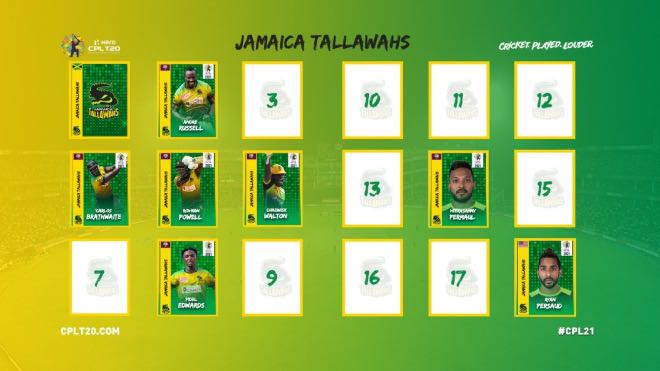 Jamaica Tallawahs CPL 2021 Player Retention