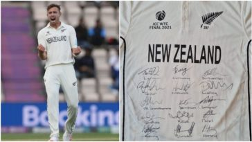 A Noble gesture from the Champion; Southee auctions his WTC final jersey for an 8-year-old's cancer treatment