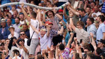 'Drunk' English fans create a ruckus at Edgbaston Stadium