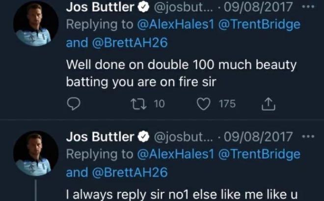 Jos Buttler's tweets mocking Indians