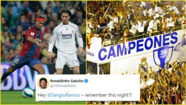 Ronaldinho tries to troll Sergio Ramos; it backfires big time