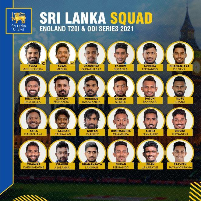 Sri Lanka Squad for England Tour 2021