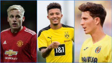 Three Italian clubs interested in Donny Van De Beek; Growing doubts over Jadon Sancho transfer