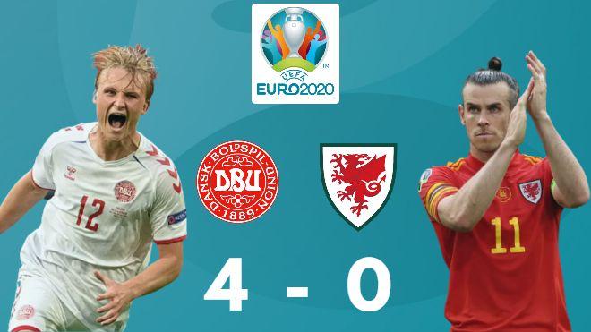UEFA Euro 2020: Denmark put 4 past Wales to progress through to the quarterfinals