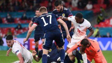UEFA Euro 2020: Goalless battle at Wembley between England and Scotland
