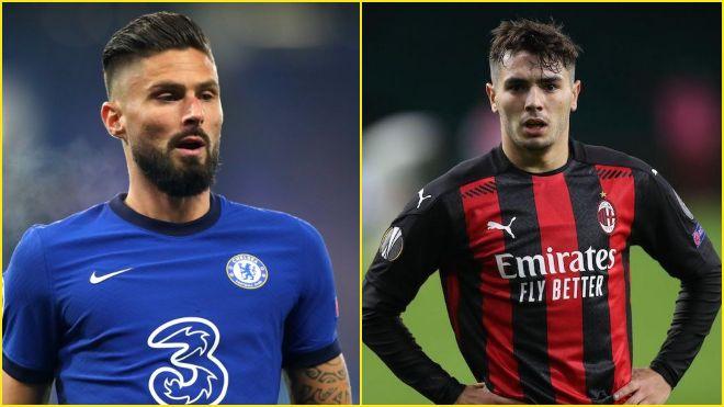 AC Milan strike deals for Olivier Giroud and Brahim Diaz