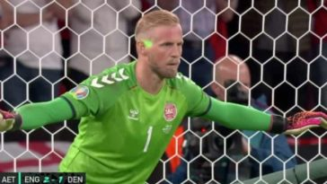 Euro 2020 England could face disciplinary charges from UEFA over laser shone at Kasper Schmeichel face