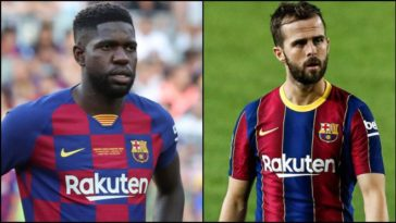 FC Barcelona looking to part ways with Miralem Pjanic and Samuel Umtiti