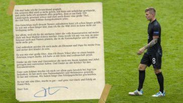 German Football star Toni Kroos bid adieu to International Football