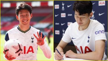 Heung-Min Son signs a new contract with Tottenham Hotspur