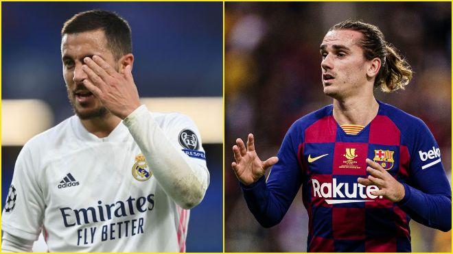 Real Madrid offer Eden Hazard back to Chelsea; Tottenham Hotspur looking at Antoine Griezmann