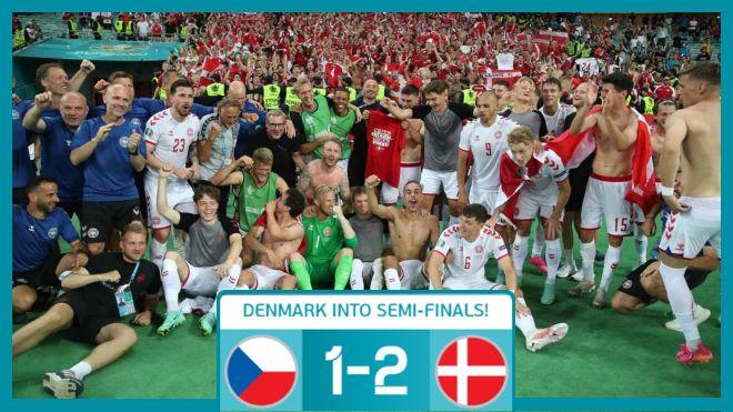 UEFA Euro 2020: Denmark overcome the Czech Republic challenge to go into the semifinals