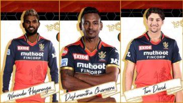 IPL 2021: RCB ropes in Wanindu Hasaranga, Dushmantha Chameera, Tim David as Adam Zampa, Daniel Sams, Finn Allen replacement