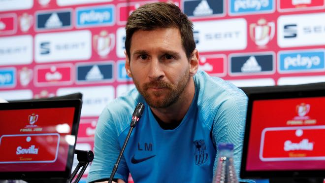 Lionel Messi to appear in a press conference on Sunday